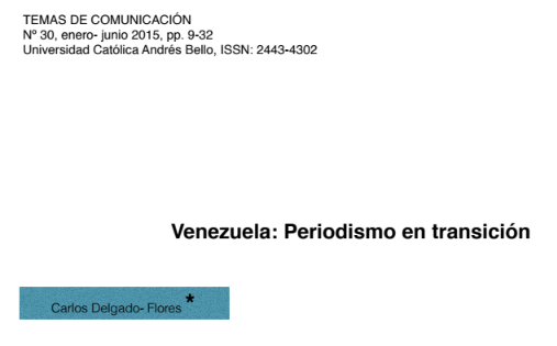 Venezuela: Periodismo en transición